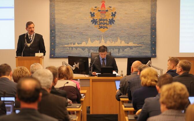 Сессия Таллиннского горсобрания.