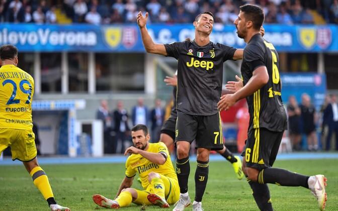 Cristiano Ronaldo Verona Chievo ja Torino Juventuse vahelises kohtumises