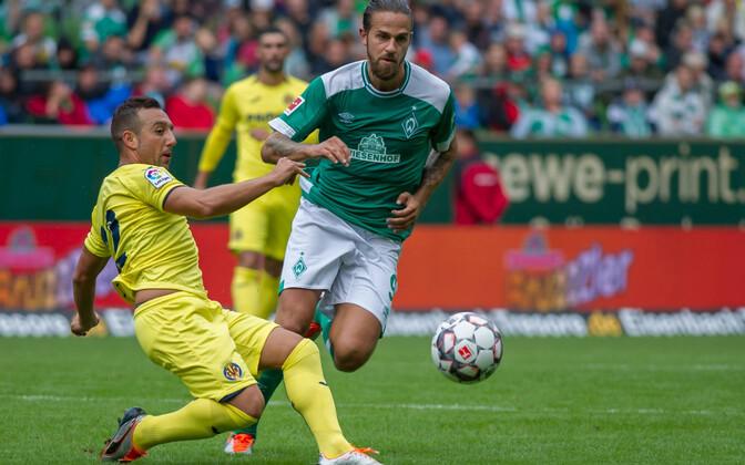 Santi Cazorla (vasakul) sõprusmängus Bremeni Werderiga.