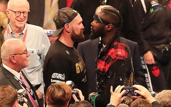 Tyson Fury ja Deontay Wilders kohtusid Belfastis pärast Fury järjekordset võitu.