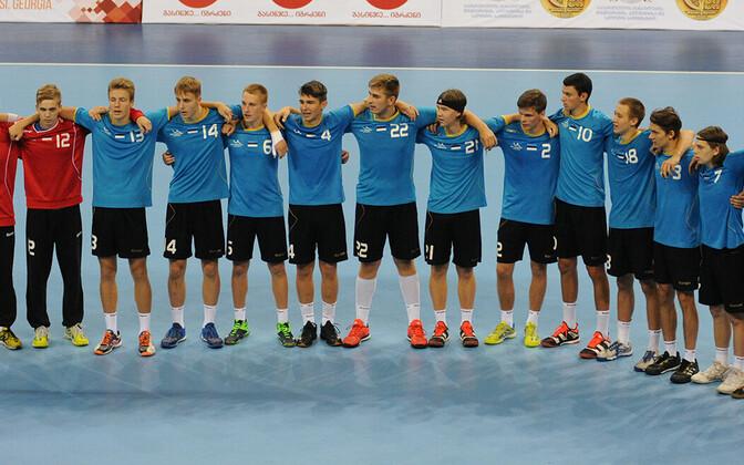Eesti U-18 käsipallikoondis.
