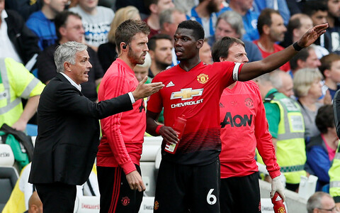 Jose Mourinho ja Paul Pogba
