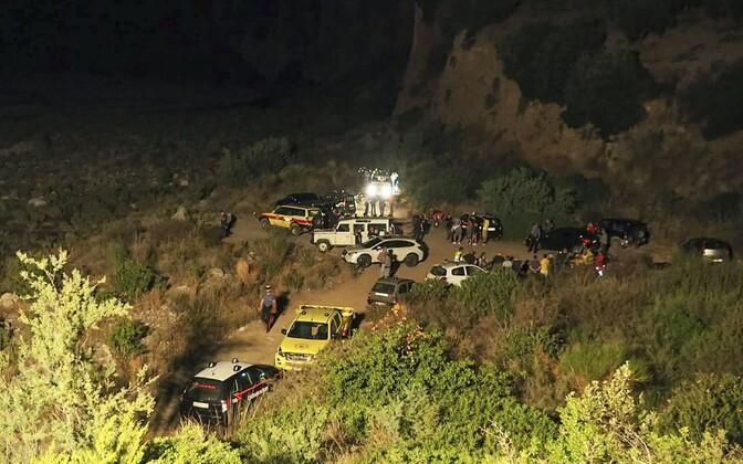 Поисково-спасательная операция в районе реки  Раганелло.