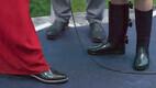 Presidendi vastuvõtt roosiaias, president Kersti Kaljulaid kandis kummikuid