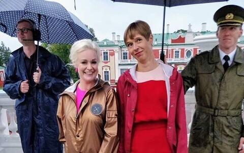 Kersti Kaljulaid ja Karmel Killandi näitasid kummikuid