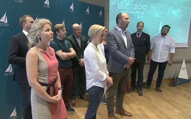 Eesti 200 teatas pressikonverentsil parteiks muutumise soovist.