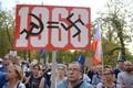 Meeleavaldajad protestisid Praha kevade mälestusüritusel peaministri kõne ajal.