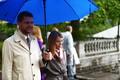 Председатель Социал-демократической партии Евгений Осиновский с супругой.