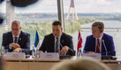 Joint meeting of the Estonian and Latvian governments in Riga on Tuesday. 21 August 2018.