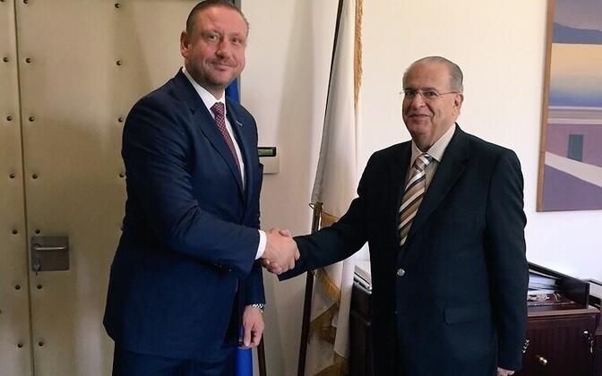 Jaanus Rahumägi ja Küprose välisminister Ioannis Kasoulides