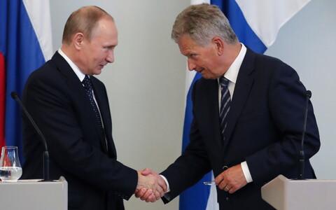 Владимир Путин и Саули Ниинистё на саммите в Хельсинки в июле 2017 года.