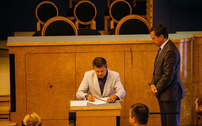 Aivar Surva kolmapäeval riigikogus.