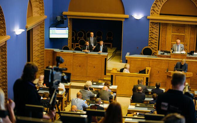 Riigikogu istung Toompeal.