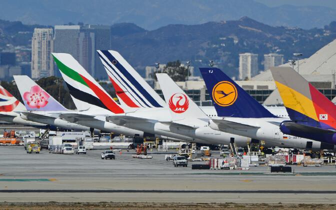Аэропорт в Лос-Анджелесе.