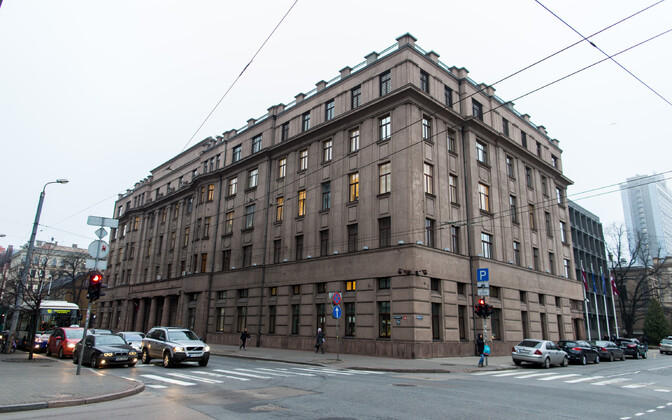 Läti kaitseministeeriumi hoone Riias.