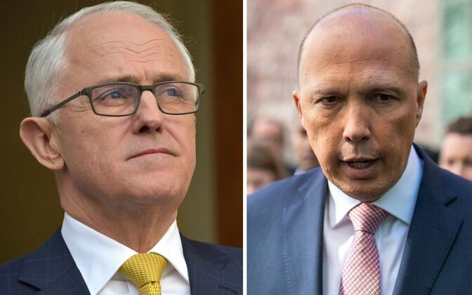 Malcolm Turnbull ja Peter Dutton.