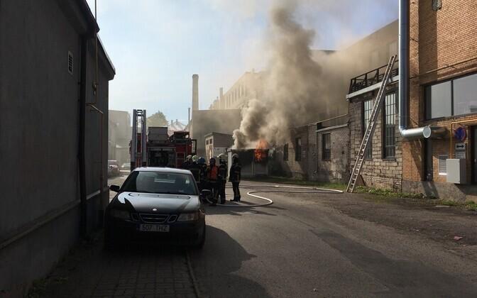 Пожар в Тарту. Иллюстративное  фото.