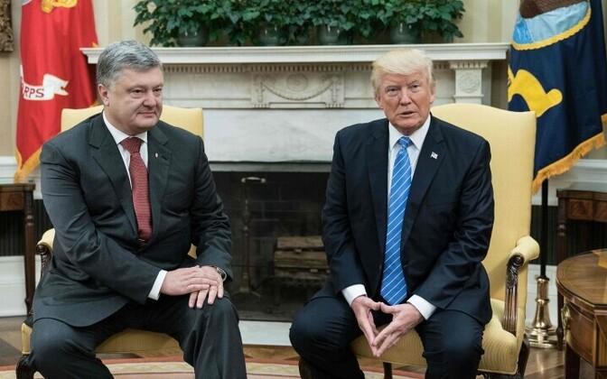 Президент Украины Петр Порошенко и лидер США Дональд Трамп.