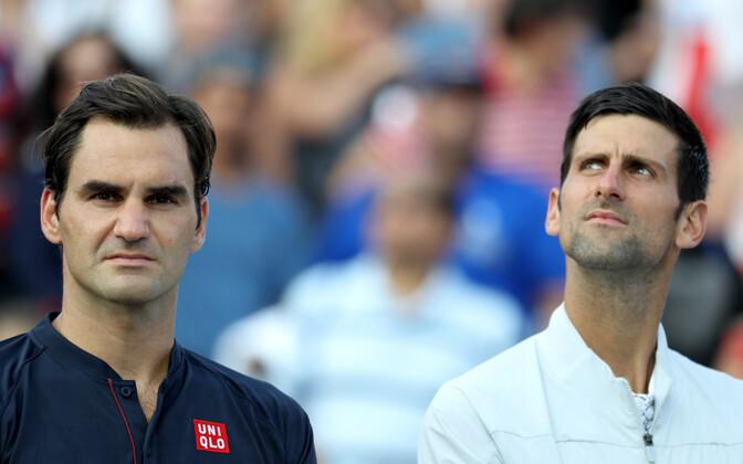 Roger Federer ja Novak Djokovic