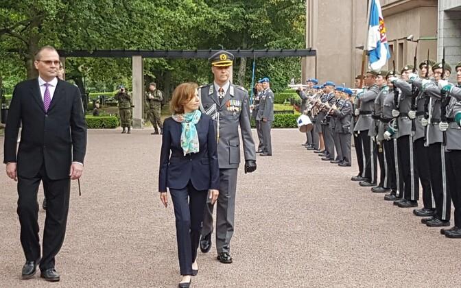 Prantsusmaa kaitseminister Florence Parly Helsingis.