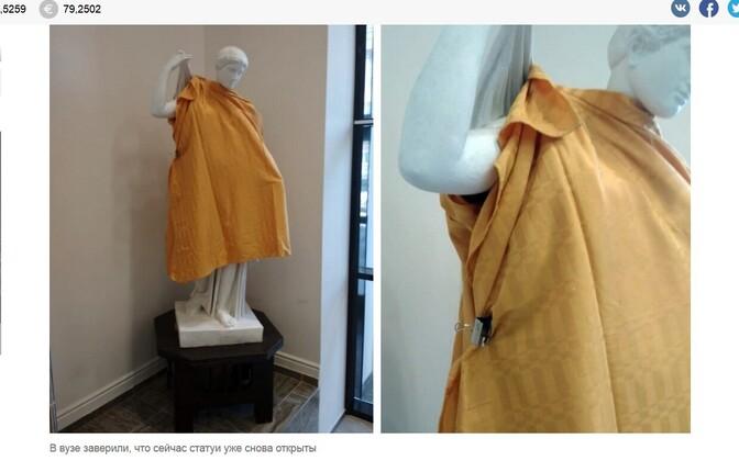 f2d12e80df6 Vene ülikooli skulptuurid said enne vaimulike saabumist riided selga ...
