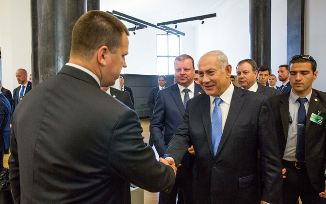 Ratas and Netanyahu in Vilnius, 24 August 2018.