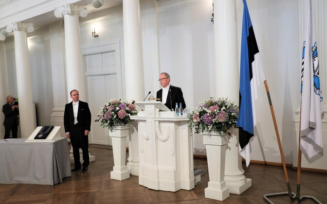 University of Tartu Rector Toomas Asser at the Assembly Hall.