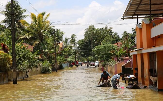 Tulvavesi Keralas.