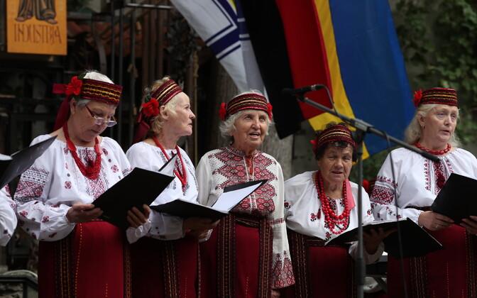 Празднование Дня независимости Украины в Таллинне.
