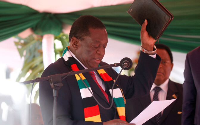 Президент Зимбабве Эммерсон Мнангагва.