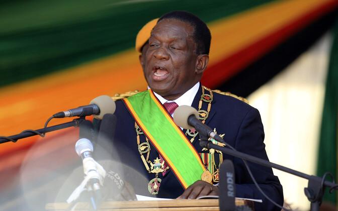 Zimbabwe president Emmerson Mnangagwa ametisse vannutamise tseremoonial.