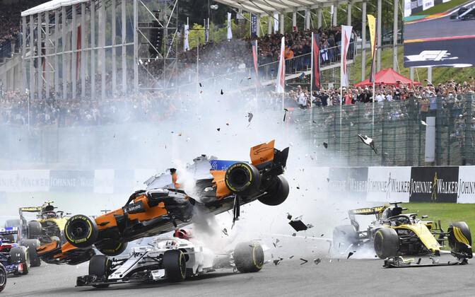Belgia GP-l toimus avarii ujba avaringil