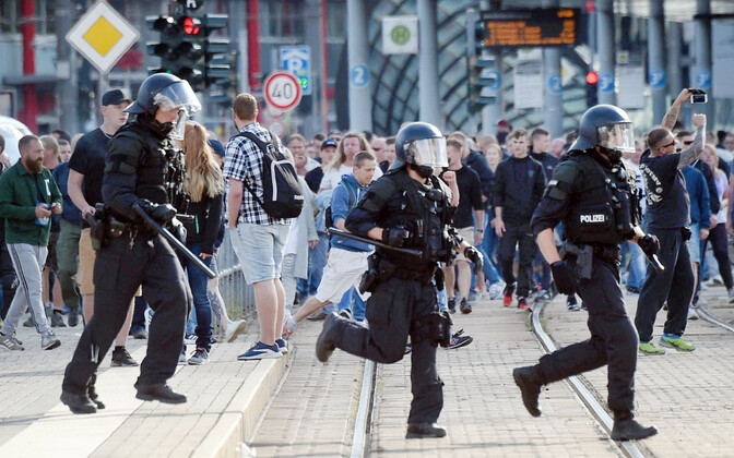Полиция в Хемнице.
