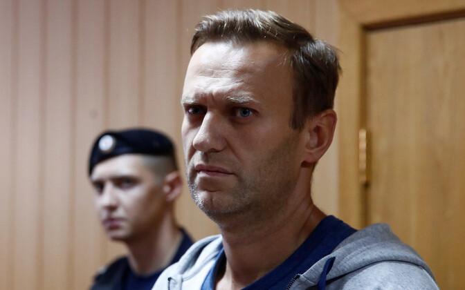 Алексей Навальный в зале суда, 27 августа 2018 года.