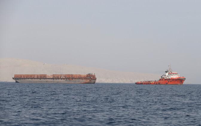 Kauba transport Omaani ranniku lähedal.