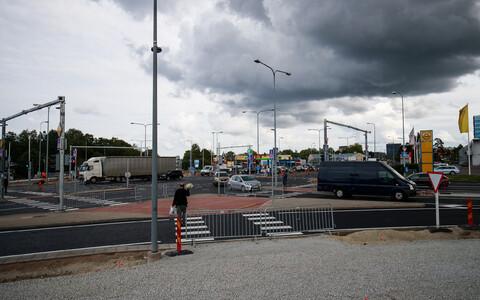 Перекресток улиц Таммсааре и Тонди в конце августа.