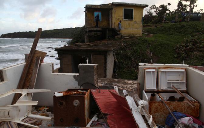 Orkaan Maria purustused Puerto Ricos.