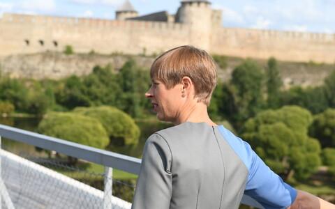 President Kersti Kaljulaid in Narva, summer 2018.
