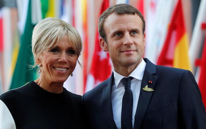 Brigitte ja Emmanuel Macron.