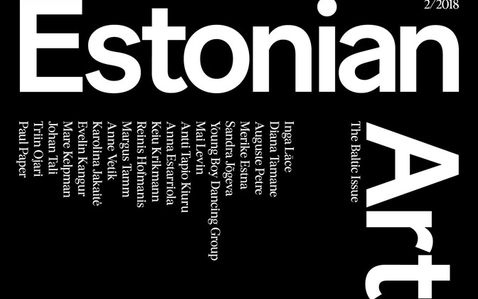 Cover of Estonian Art 2/2018.