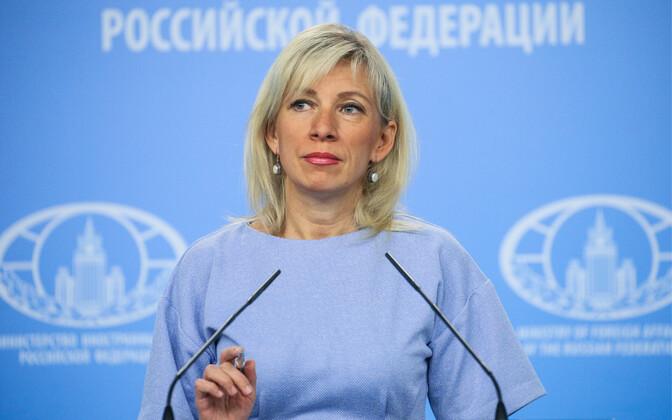 Vene välisministeeriumi kõneisik Maria Zahharova.