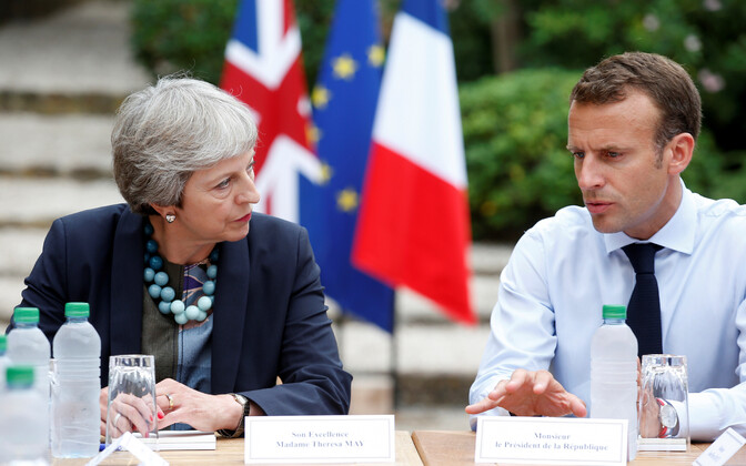 Theresa May ja Emmanuel Macron 3. augustil Fort de Brégançon'is.