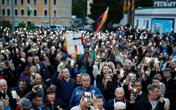 Демонстрация в Хемнице.