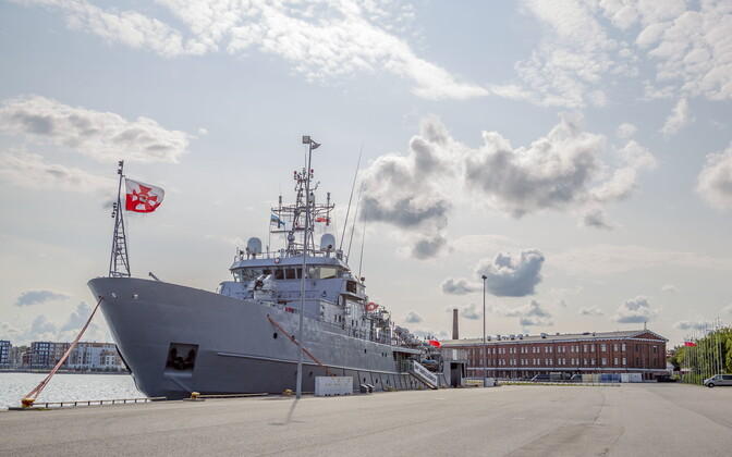 Polish Navy logistics ship the ORP Kontradmirał Xawery Czernicki
