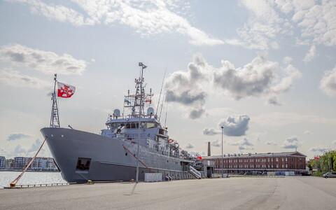 Polish Navy logistics ship the ORP Kontradmirał Xawery Czernicki