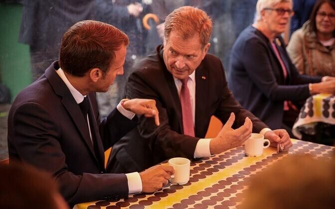 Macron ja Niinistö Helsingis