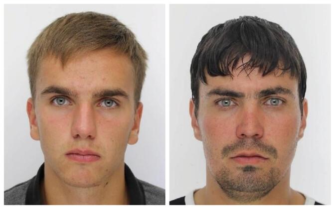 Денис (слева) и Игорь разыскиваются полицией.