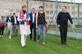 Kersti Kaljulaid jalgpalli Premium liiga mängul