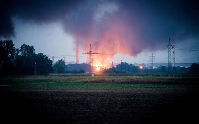 Bayernoili rafineerimistehases toimunud plahvatus.
