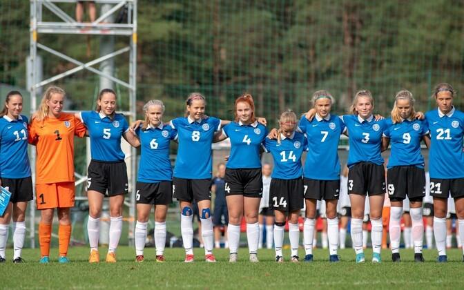 Tüdrukute U-15 jalgpallikoondis.